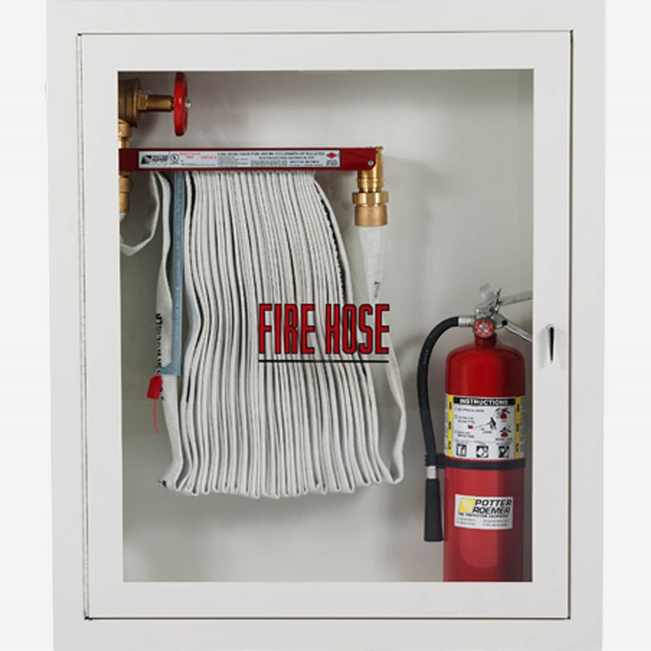 1 5 Quot Fire Hose Rack And Extinguisher Cabinet Potter Roemer