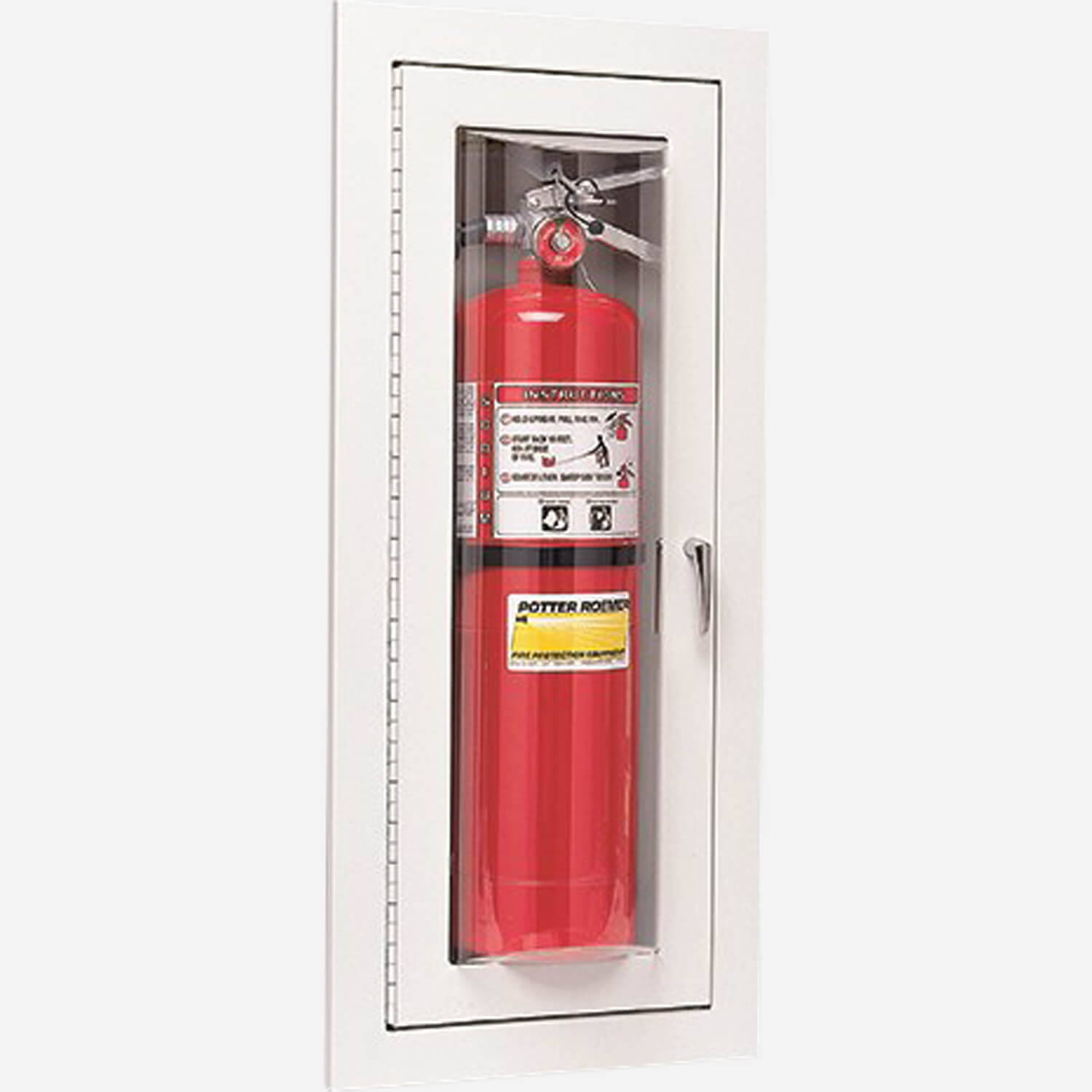 Fire Rated Fire Extinguisher (Bubble Door) Cabinet - Potter Roemer