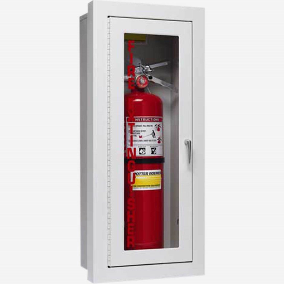 semi-recessed alta fire extinguisher cabinets - potter roemer