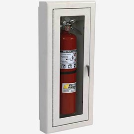 "Rolled Radius 3"" Trim Semi-Recessed Alta Fire Extinguisher Cabinets"