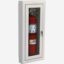 "Fire Rated Rolled Radius 3"" Trim Semi-Recessed Alta Fire Extinguisher Cabinets"