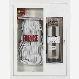 "1.5"" Fire Hose Rack and Extinguisher (Bubble Door) Cabinet"