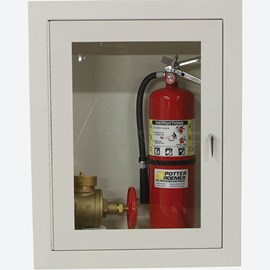 "1.5  and 2.5"" Fire Dept. Valve and Extinguisher Cabinet"