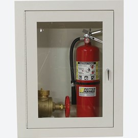 "Fire Rated 1.5, 2.5"" Fire Dept. Valve and Extinguisher Cabinet"