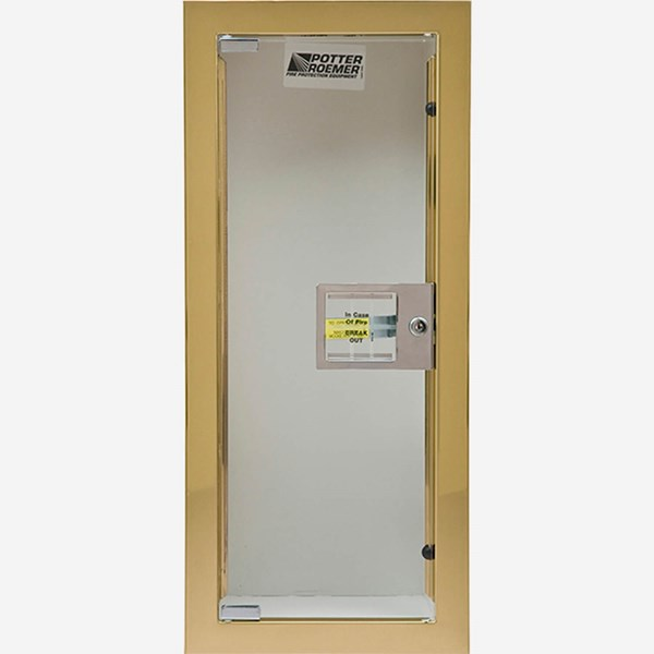 Semi Recessed Buena Fire Extinguisher Cabinet Potter Roemer