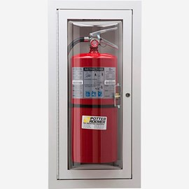 "Rolled Radius 3"" Trim Semi-Recessed Loma Fire Extinguisher Cabinets"