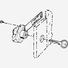 Lock for Fire Cabinet