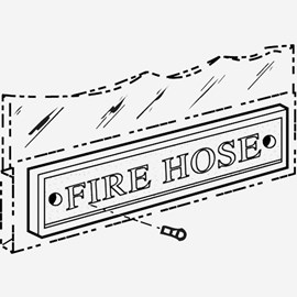 Fire Hose Plaque for Fire Cabinet