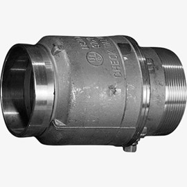 "4"" Male x Grooved Check Valve"