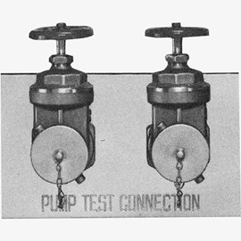 Two-Way Flush Fire Pump Test Connections