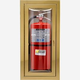 "Fire Rated Rolled Radius 3"" Trim Semi-Recessed Loma Fire Extinguisher Cabinets"