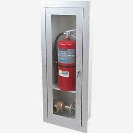 Recessed Alta Valve & Fire Extinguisher Cabinet