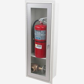 Fire Rated Trimless Alta Valve & Fire Extinguisher Cabinet