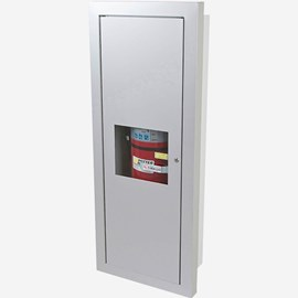 Semi-Recessed Alta Valve & Fire Extinguisher Cabinet