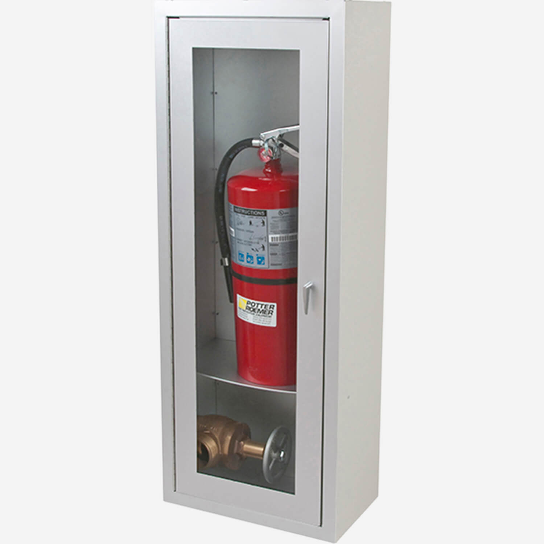 Surface Alta Valve & Fire Extinguisher Cabinet - Potter Roemer