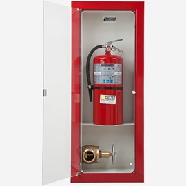Fire Rated Semi-Recessed Buena Fire Valve - Extinguisher Cabinet