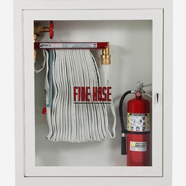 "1.5"" Fire Hose Rack and Extinguisher Cabinet"