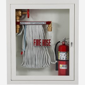 "2.5 x 1.5"" Fire Hose Rack and Extinguisher Cabinet"