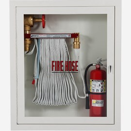 "Fire Rated 2.5 x 1.5"" Fire Hose Rack and Extinguisher Cabinet"