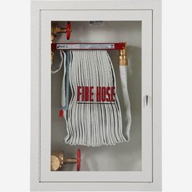 "Fire Rated 1.5"" Fire Hose Rack and 2.5"" Fire Dept. Valve Cabinet"