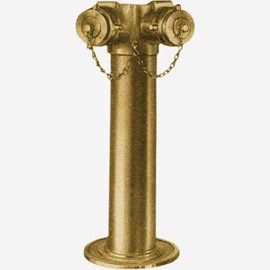 Two-Way Free-Standing Fire Dept Inlet Brass Body Connection with Clappers