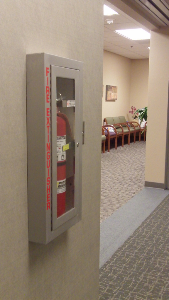 Photo Album View Potter Roemer - Semi recessed fire extinguisher cabinet